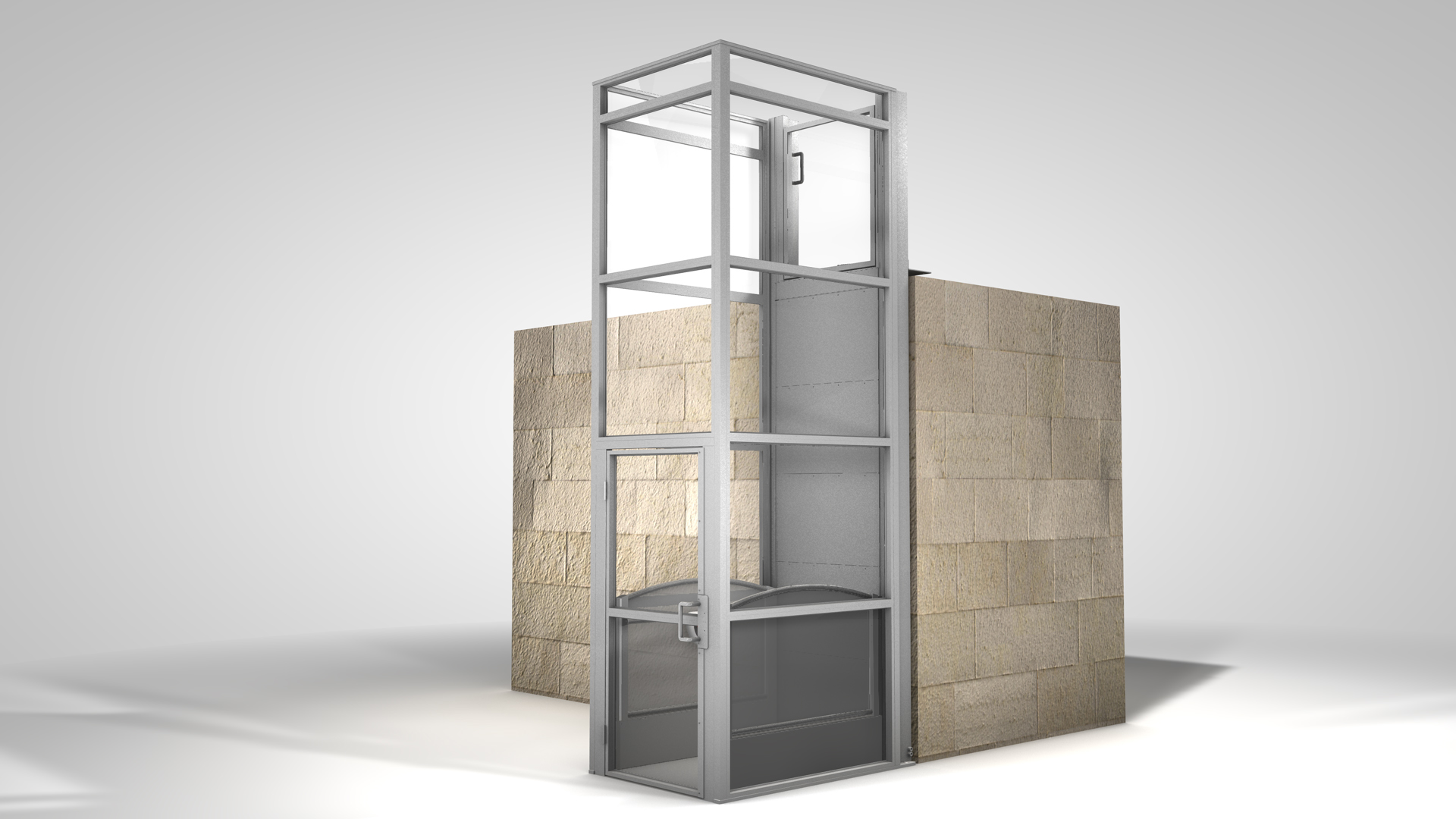 Quiet Dignified Lifts To The Second Floor For Schools And